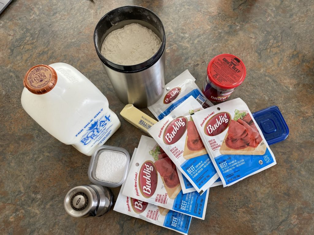 Chipped Beef Ingredients