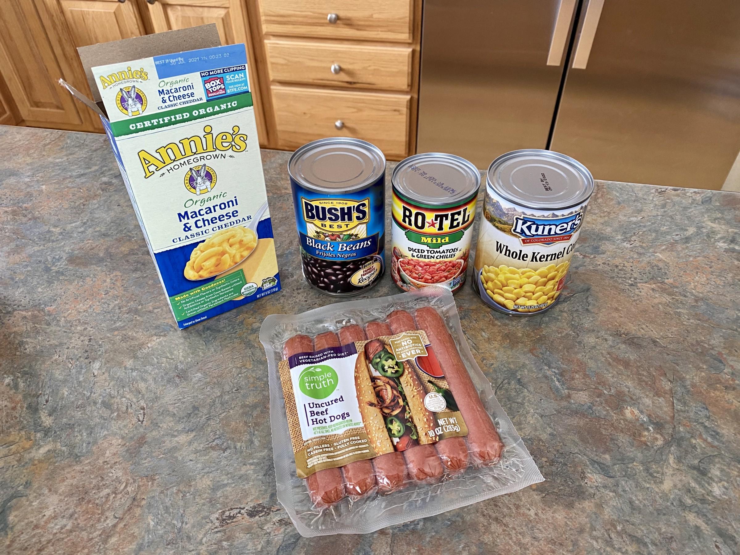 Hoover Stew Ingredients