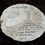 Footprints Poem Near Rose Bush