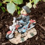 Dad Bear Motorcycle Statue