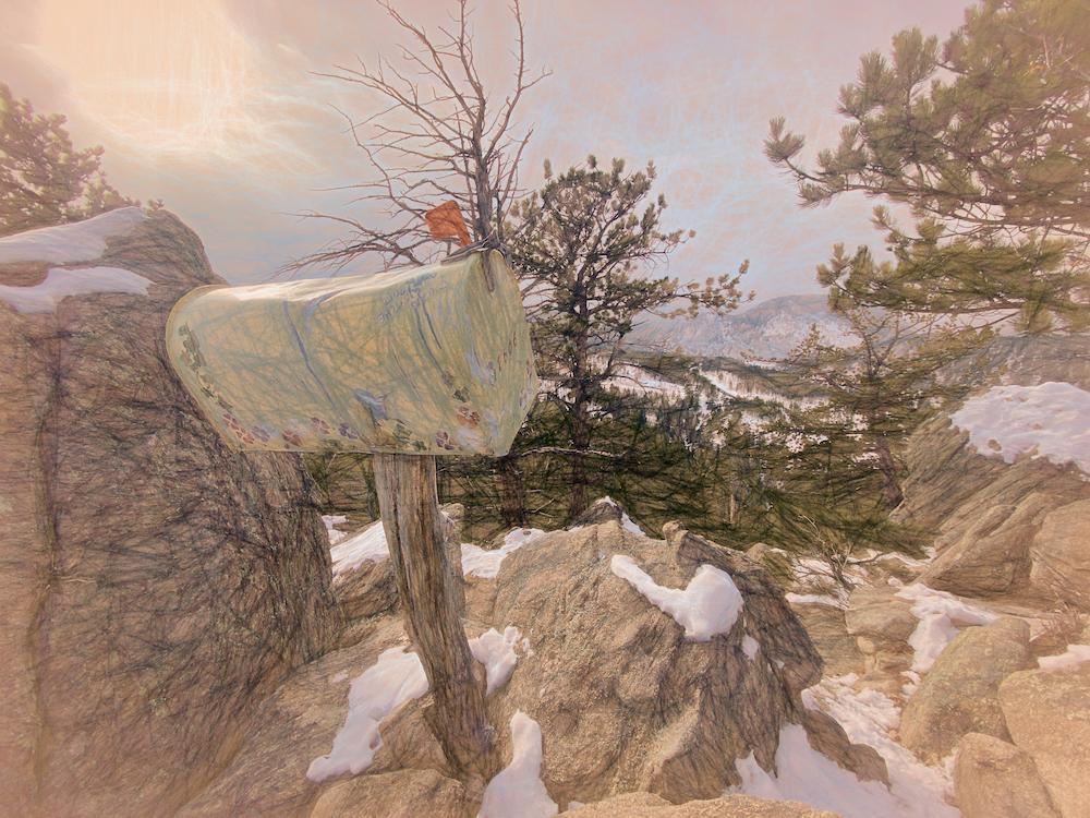 Sketch Mailbox above Rocky Mountain National Park