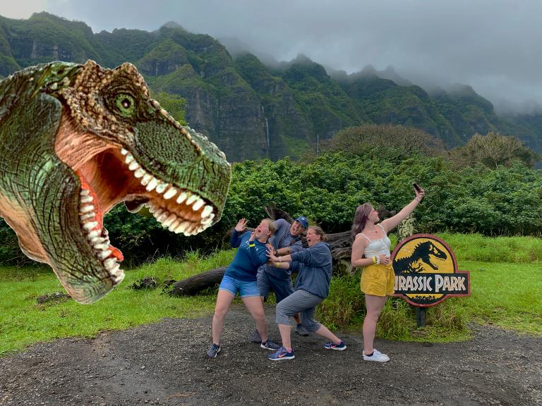 Kualoa Jurassic Family Scene